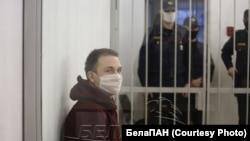 Арцём Хвашчэўскі падчас суду, фота БелаПАН