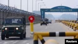 Демилитаризованная зона на границе КНДР и Южной Кореи