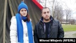 Danijela Sedlar i Njegoš Tomić u Banjaluci, 23. februar 2016.