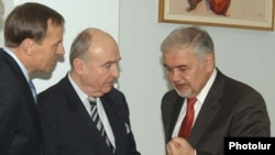 Armenia -- The American, French and Russian co-chairs of the OSCE Minsk Group in Yerevan on January 20, 2010.