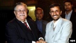 محمود احمدی نژاد و جلال طالبانی در تهران