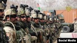 شماری از نیروهای قوای خاص افغانستان