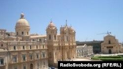 Панорама з кафедральним собором і церквою Святого Духа Спасителя