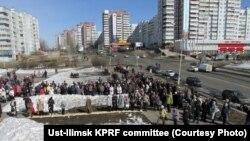 Усть-Илимск, митинг горожан 11 апреля 2015 г.