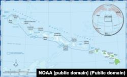 Карта Морської національної пам'ятки «Папаханаумокуакеа»