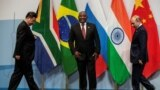 Президенты Китая, ЮАР и России на саммите БРИКС