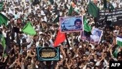 تجمع مردم سرینگر، مرکز کشمیر، در اعتراض به دولت هند دست به اعتراض زدند.