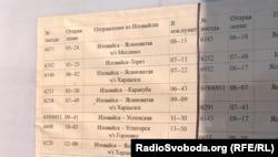 Розклад потягів з Шахтарська