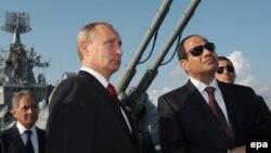 Ռուսաստանի նախագահ Վլադիմիր Պուտին և Եգիպտոսի նախագահ Աբդել Ֆաթթահ ալ-Սիսի, Սոչի, օգոստոս, 2017թ․