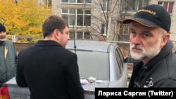 Затримання судді Валерія Чорнобука (праворуч), 5 листопада 2018 року