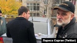 Затримання Валерія Чорнобука (праворуч) в Києві, 3 листопада 2018 року