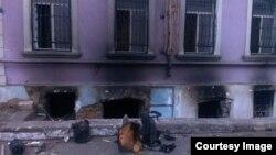 Штаб-квартире ПНФА после пожара