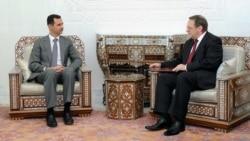 Сирискиот претседател Башар ал Асад и Михаил Богданов, заменик-министер за надворешни работи и специјален претставник на Кремљ за Блискиот Исток.
