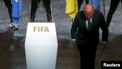 Президент ФІФА Йозеф Блаттер на конгресі організації в Цюріху, Швейцарія, 28 травня 2015 року
