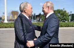 Нурсултан Назарбаев и Владимир Путин, Москва, 7 сентября 2019 года