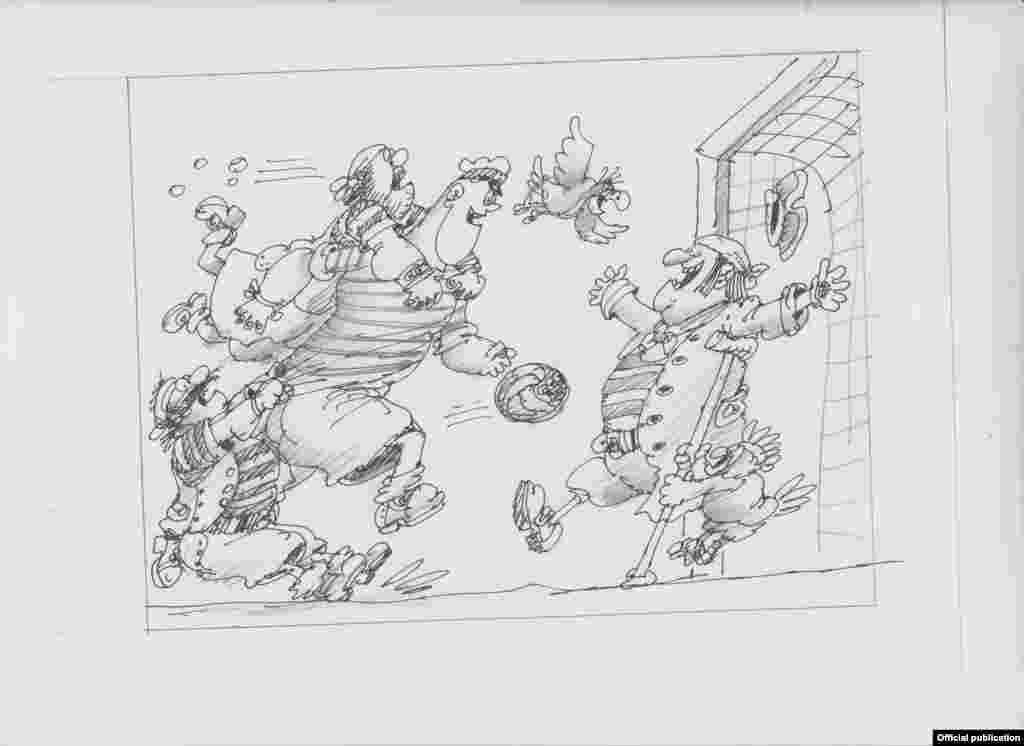 Перші ескізи до «Пригод капітана Врунгеля» 70-х років