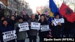 Jedan od protesta podrške Ramušu Haradinaju u Prištini, ilustrativna fotografija