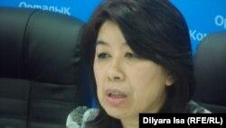 Асия Темирбаева, руководитель Южно-Казахстанского областного управления координации занятости и социальных программ. Шымкент, 8 апреля 2016 года.