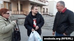 Аляксандар Лаўрэнцьеў з маці і Ежы Грыгенчам