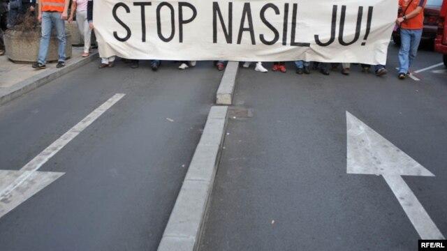 Sa jednog protesta protiv nasilja u Srbiji, foto: Vesna Anđić