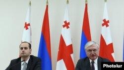 Հայաստանի և Վրաստանի արտգործնախարարներ Էդվարդ Նալբանդյանի և Միխեիլ Ջանելիձեի համատեղ մամլո ասուլիսը Երևանում, 25-ը մարտի, 2016թ․