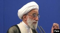 "Ayatollah Ahmad Jannati: ""...the flag of the struggle against America should always stay hoisted."""