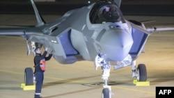 Израиль әскери әуе күштерінің F-35 ұшағы.