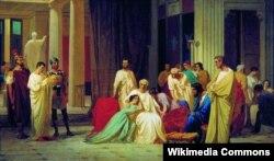 Федор Бронников. Чтение смертного приговора Тразею Пету. Не позднее 1873