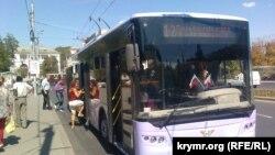 Ukraine, Crimea - Sevastopol trolley made at Lviv trolleybus factory