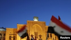 Сирия - Акция протеста перед зданием парламента, Дамаск, 21 февраля 2012 г.