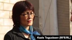 Бахытжан Торегожина, гражданский активист. Алматы, 26 марта 2013 года.