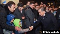 Шавкат Мирзияев пообщался с узбекистанцами, проживающими в Германии, 20 января 2019 года.