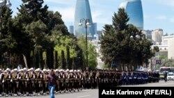 Ադրբեջանի բանակի ստորաբաժանումները Բաքվում զորահանդեսի ժամանակ, արխիվ