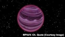 PSO J318.5–22 планетасы сүрөтчүнүн көзү менен