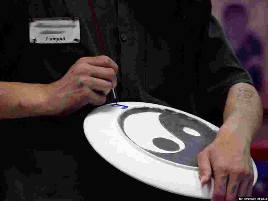 Инь и Янь - очень популярный символ в рисунках осужденных