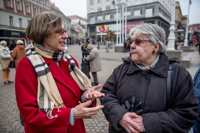 Seka Becić Levak u razgovoru sa Gordanom Knežević, 20.februara, 2018 u Zagrebu