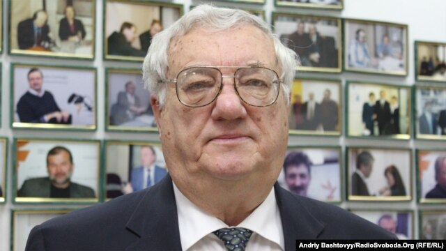 Юрий Щербак в киевской студии Радио Свобода