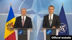 Premierul Pavel Filip și secretarul-general NATO, Jens Stoltenberg, la Bruxelles