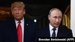 Трамп пен Путин Хельсинкиде. 16 шілде 2018 жыл.