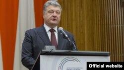 Президент України Петро Порошенко під час засідання Генеральної асамблеї ООН. Нью-Йорк, 19 вересня 2016 року