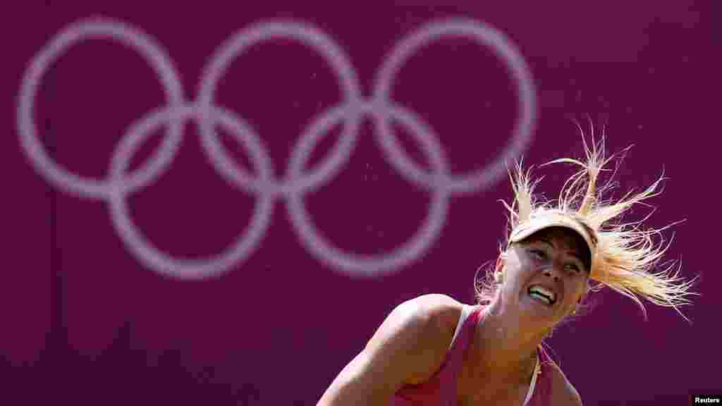 Ruska tenisačica, Maria Sharapova na treningu, 26. juli 2012. Foto: REUTERS / Stefan Wermuth