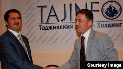 Раҳим Қаландаров (аз чап) ва Ғуфрон Ваҳобов