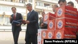 Ranko Krivokapić i Milo Đukanović sa izbornim listama stranaka, ilustrativna fotografija