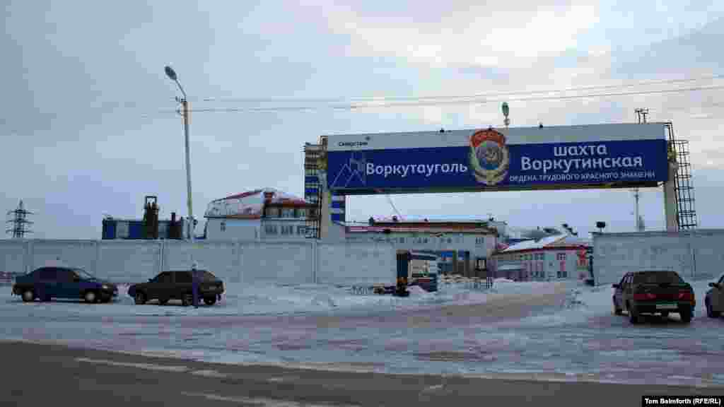 The entrance to the Vorkutinskaya mine, where an explosion killed at least 18 people in early February.
