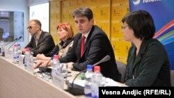 Sa konferencije za novinare uoči Sajma knjiga, 17.10.2013.