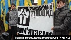 На одній із акцій до роковин пам'яті жертв голодоморів (архівне фото)