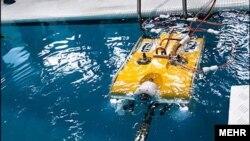 یک روبات زیردریایی در مسابقات دانشگاهی ایران، عکس تزئینی است