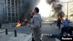 Бейруттағы жарылыс болған орын. Бейрут, Ливан, 27 желтоқсан 2013 жыл.