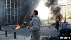 Бейрутте автокөлікте жарылыс болды. 27 желтоқсан 2013 жыл.