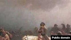ناپلئون به هنگام بازگشت از روسیه